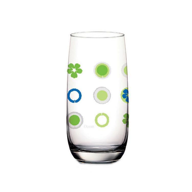 Чаши за вода  Ocean Blossom Flower Green 3 бр.  - 0.390  л Ocean