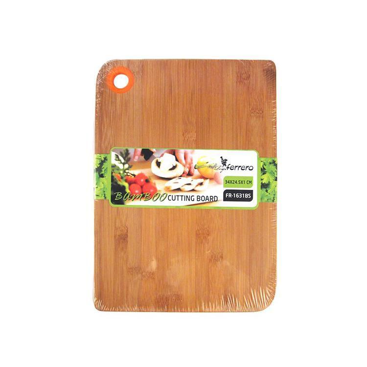 Бамбукова дъска за рязане Luigi Ferrero FR-1631BS с оранжев цвят