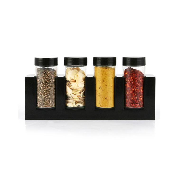 Комплект стъклени бурканчета за подправки на стойка Luigi Ferrero