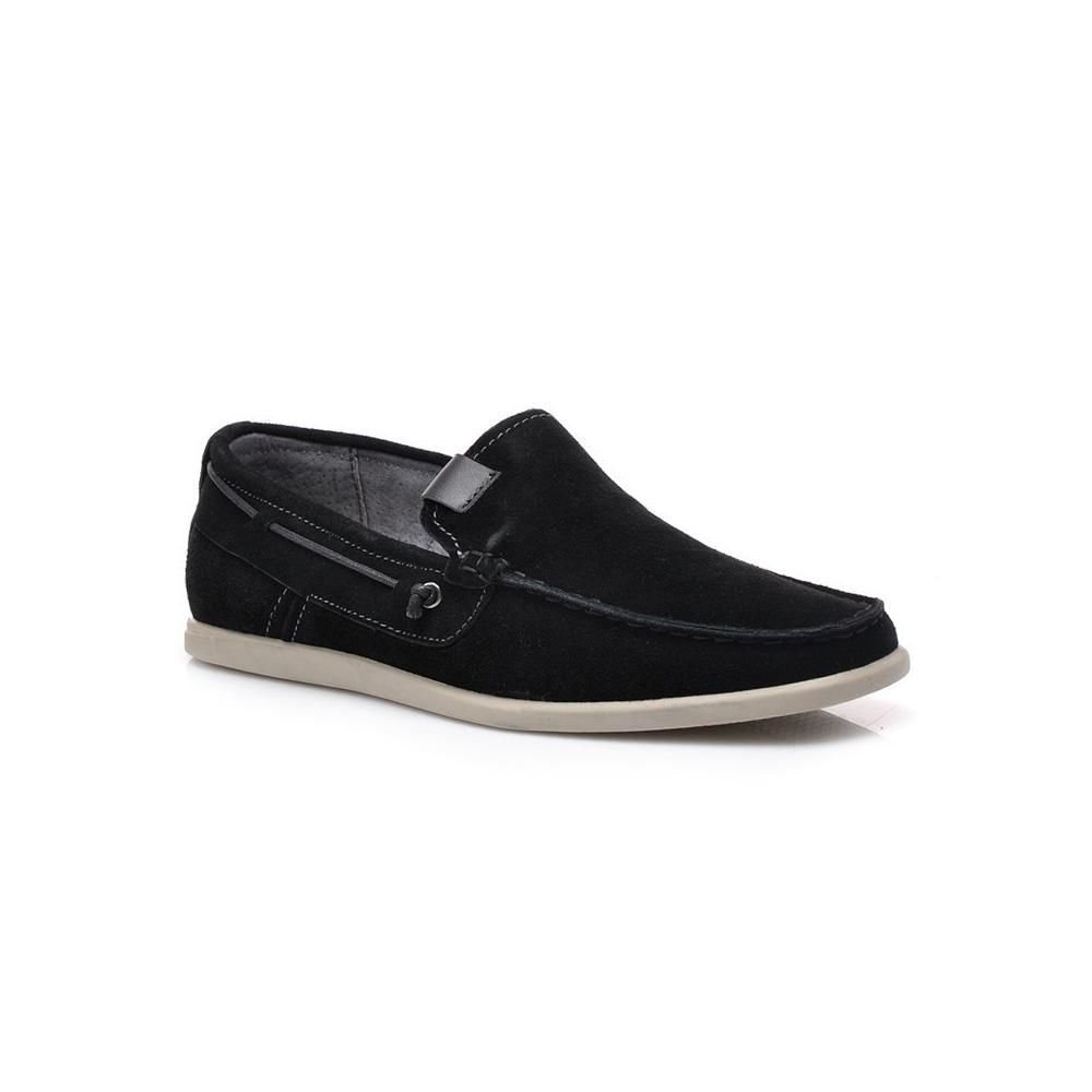 Мъжки обувки от естествена кожа черни Mazaro - Полша